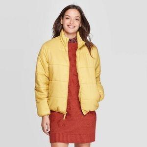 Universal Thread Mustard Yellow Puffer Coat